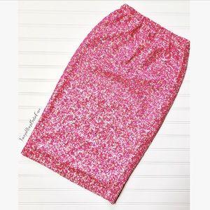 Dresses & Skirts - 📂1 LEFT🎀 Barbie Pink & White Sequin Pencil Skirt